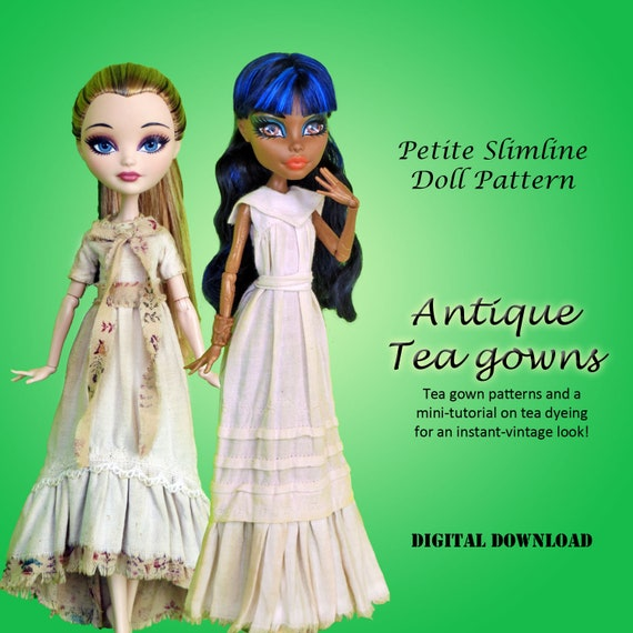 Antique tea gown vintage mori boho girl dress sewing pattern | Etsy