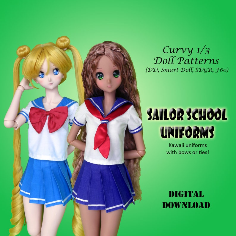 277bc52ff Sailor School Japanese Uniform sewing clothes pattern for