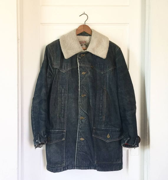 Vintage Lee Storm Rider Jacket, Mens S, Sherpa Lin