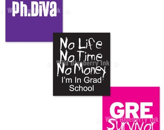 GRAD SCHOOL, MBA Scrabble Size Digital Collage Sheet .75x.83 Inches No. 340
