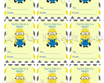 photo about You Re One in a Minion Printable referred to as A single inside a minion Etsy