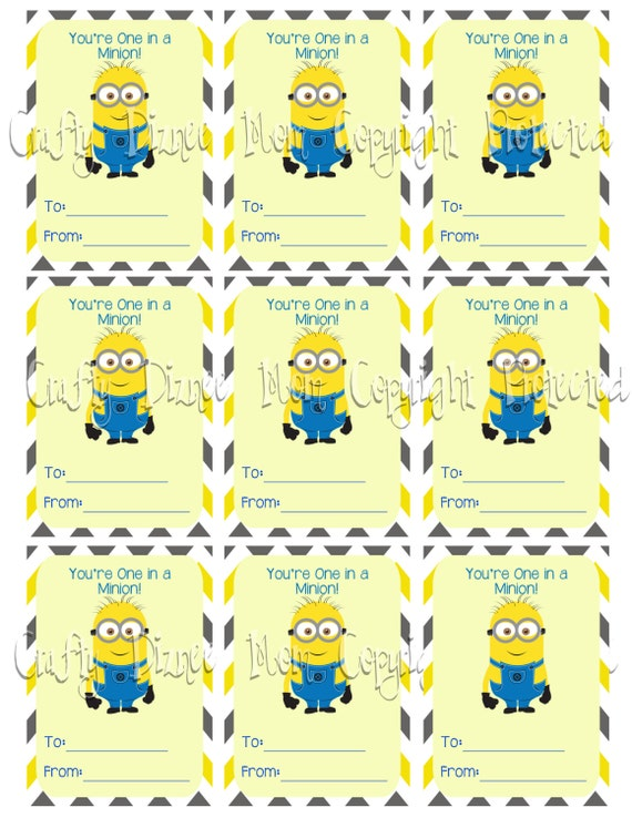 image relating to You Re One in a Minion Printable named Merchandise identical towards Printable Youre A single inside a Minion