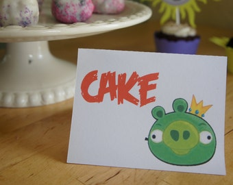 Angry Birds Candy/Dessert Table Labels
