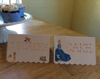 Cinderella Candy/Dessert Table Labels