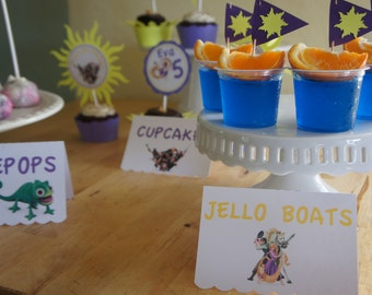 Tangled  Candy/Dessert Table Labels
