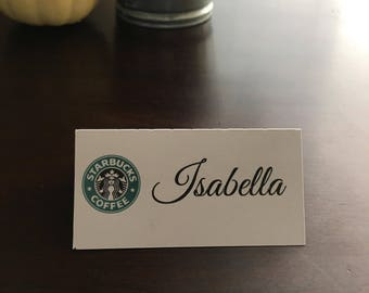 Starbuck Place Cards