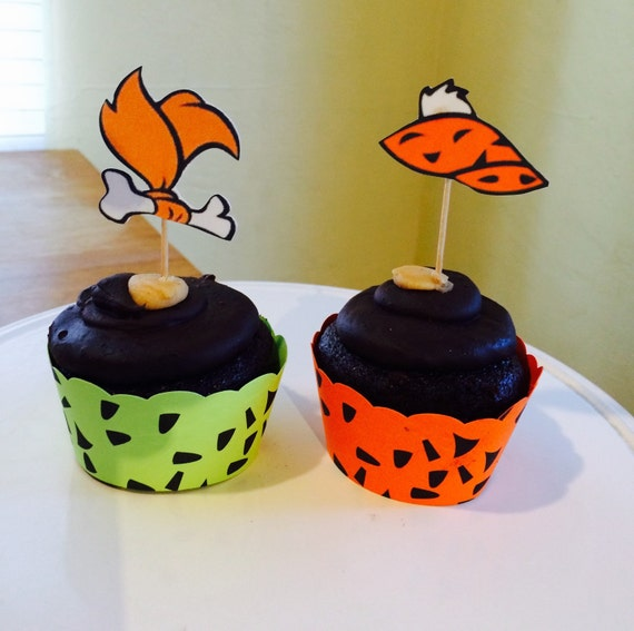 Pebbles Flintstone And Bam Bam Cupcake Wrappers By
