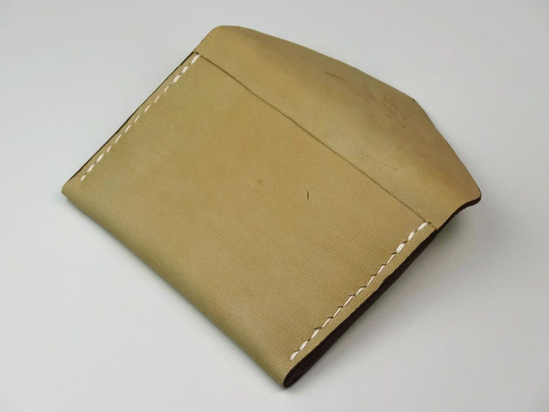 Feather Print Vegetable Tanned Leather Men/'s Leather Card Holder Women/'s Leather Card Holder Nude Card Holder Hand Sewn MANDY