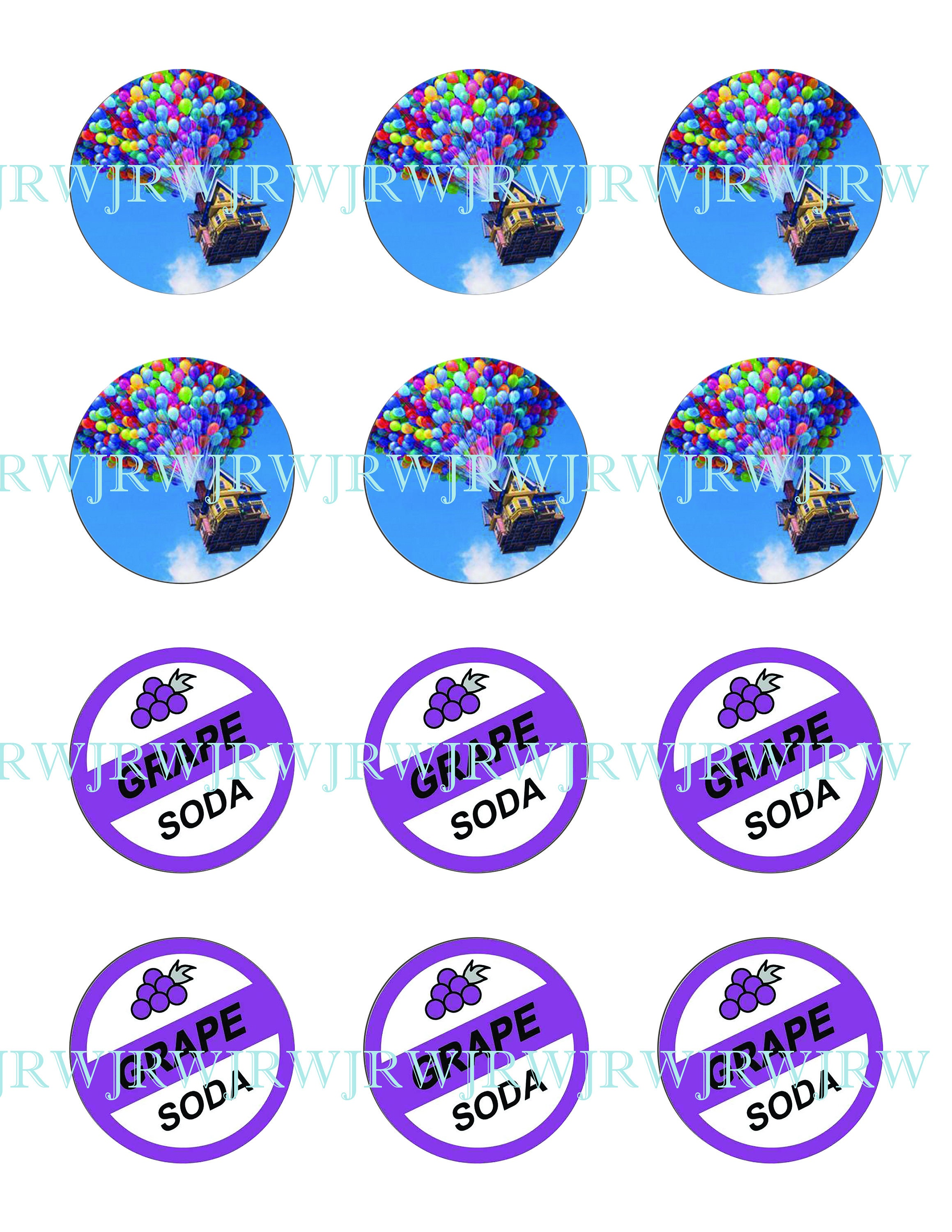 Disneys Up Inspired 2 Inch Bottle Cap Images Grape Etsy
