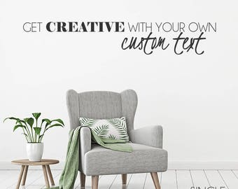 Wall Decals Quotes | Etsy