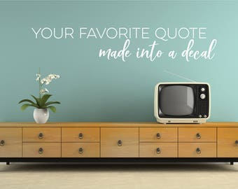 Custom Wall Decal Quote   Create Your Own Wall Words Home Decor