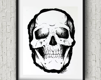 Sharpie Drawings Of Skulls
