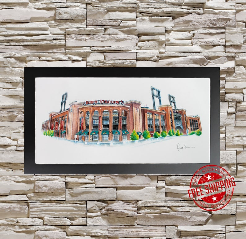 St Louis Cardinals Wall Art Print Sport Decor Cardinals Gift Etsy