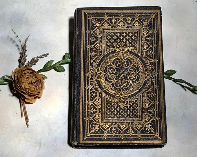 Wedding Vow Guestbook, Small Vintage Book Journal, Custom Made Elegant Blank Book
