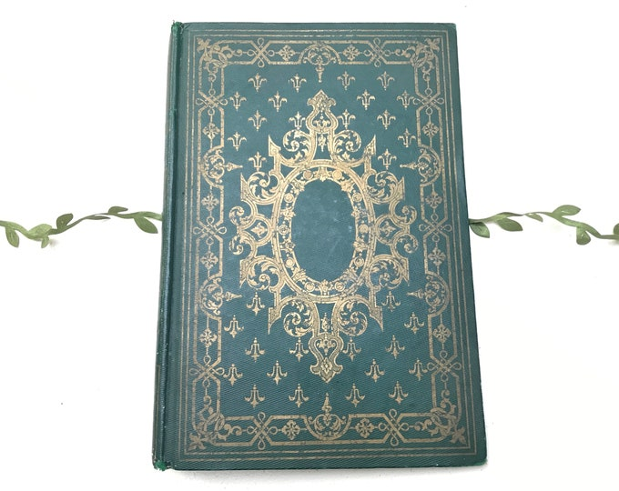 Emerald Green Personalized Blank Book, Unique Artist Journal, Wedding Guestbook Idea, Custom Made Rebound Vintage French Book