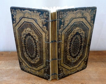 Unique Wedding Guestbook, Rebound Antique Ornate French Book, Custom Made Journal Personalized