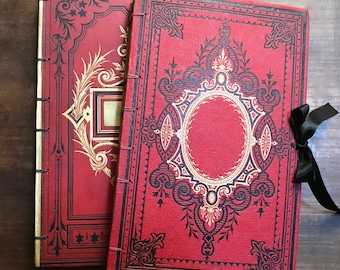 Custom Order Personalized Guest Books, Unique Blank Journals for Events & Weddings, Large Scrapbooks Made from Antique French Books
