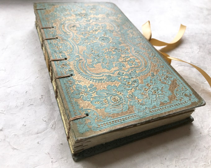 Guestbook for Wedding, Vow Guestbook, Anniversary Gift Idea, Baby Journal Keepsake, Personalized Custom Order Rebound Antique Book