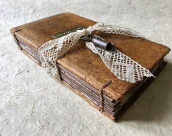 Romantic Ring Box, Personalized Hollow Book, Secret Safe Wedding Keepsake, Pop the Question Idea, Made from antique French book