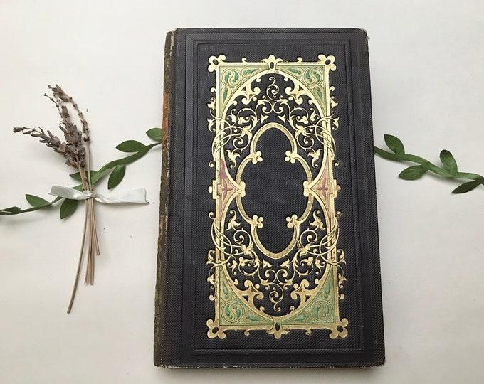 Black Vintage Journal Blank Book Artist Sketchbook Gift Idea Custom Made in France