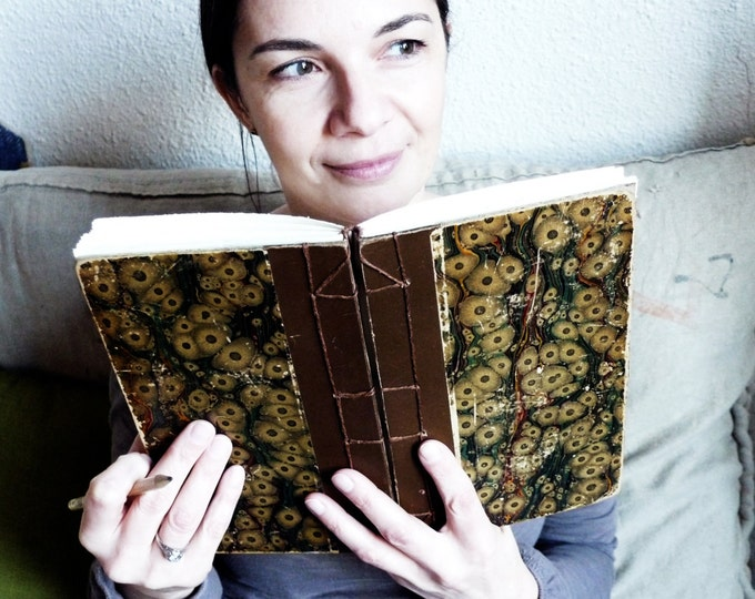 Unique Journals made from Vintage Books, Boho Sketchbook, Blank Book for Artist, French Scrapbook, Options to Personalize, Gift