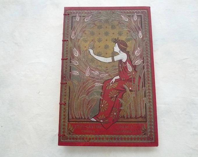 Custom Artist Sketchbooks made from Rebound antique French books, Boho Blank Journal, Large Size, Gift for Her