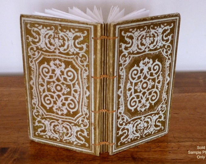 Antique Guest Book, Wedding Book, Custom Journal, Boho Guestbook, Anniversary Keepsake, Literary Wedding, Gold Accents Antique Book Journal