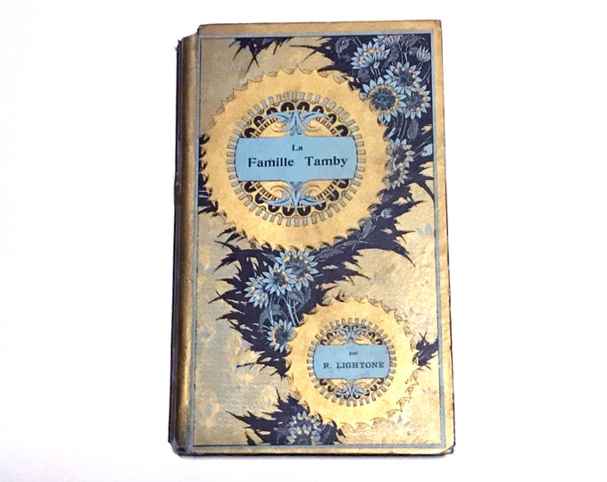 Floral Wedding Guestbook, Antique French Book Journal for Events, Marriage Gift