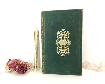 Boho Wedding Guestbook made from a Vintage French Book, Artist Journal, Optional Old Book Pages, Inscription