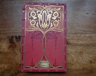 Elegant Guestbook made from a gorgeous antique Art Nouveau French Book, Scrapbook option, Custom Order, Personalized