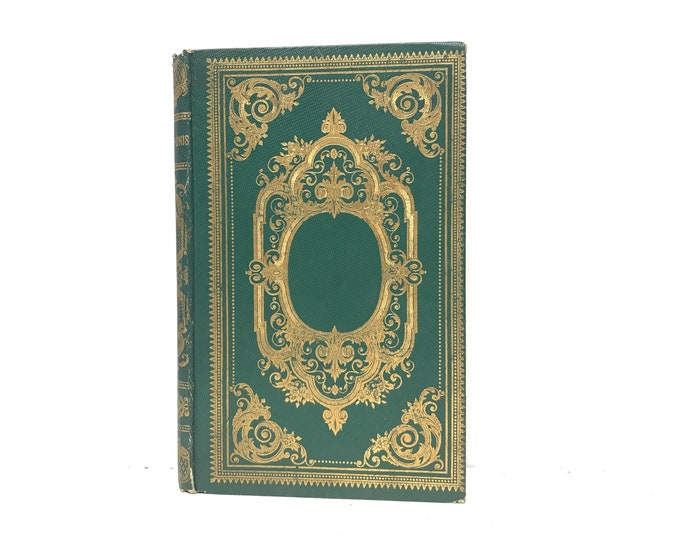 Emerald Green Wedding Guest Book, Romantic Journal Custom Made from an Antique French Book