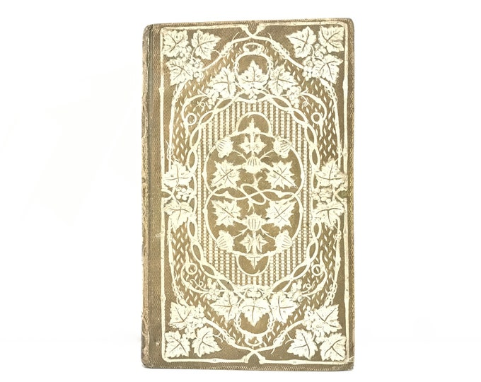 Ornate Journal or Guest Book, Unique Blank Book Gift for Writer, Anniversary, Wedding Vows made from an Ornate French Antique Book