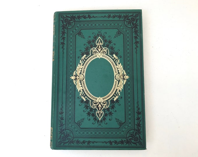 Romantic Fairytale Guestbook for Weddings, Marriage or Anniversary Gift Idea, Large Green Blank Book Option for Photo Scrapbook