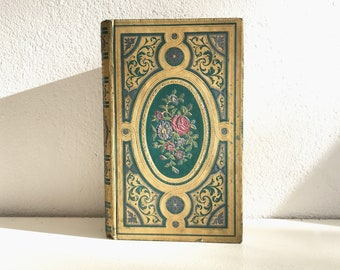 Antique Wedding Guest Book, Keepsake for Vows, Engagement Book, Gift Idea for Couple
