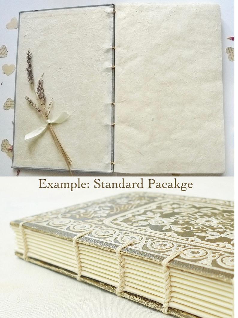 Unique Custom Guestbook made from rebound Antique French Books Anniversary Keepsake Honeymoon Journal Fairytale Wedding Guest Books