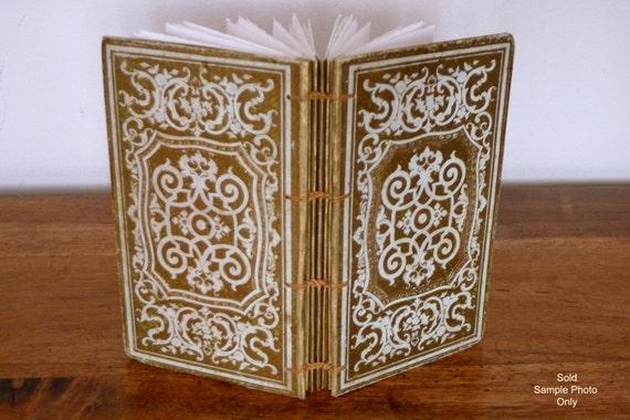 Antique Guest Book, Wedding Book, Custom Journal, Boho Guestbook, Anniversary Keepsake, Literary Wedding, Gold Accents Antique Book Journal