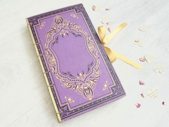 Custom Boho Guest Books Made in France, Hand Bound Upcycled Vintage Journals and Guestbooks for Weddings, Anniversaries, Engagement, Gift