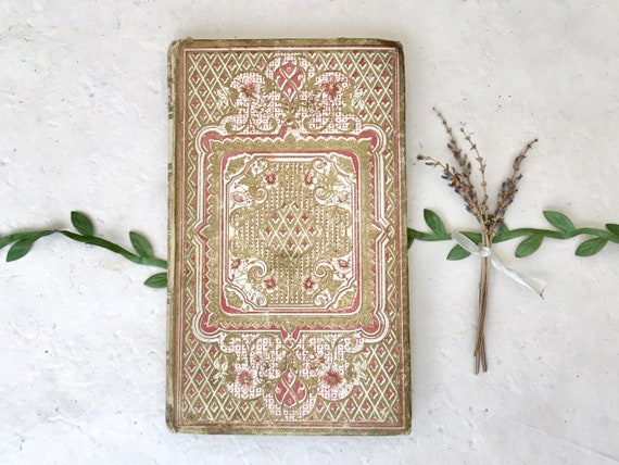 Wedding Guest Book, Unique Sign In Book, Book Guestbook, Old World Vintage, Anniversary Gift, Keepsake for Vows, Ornate Antique Journal