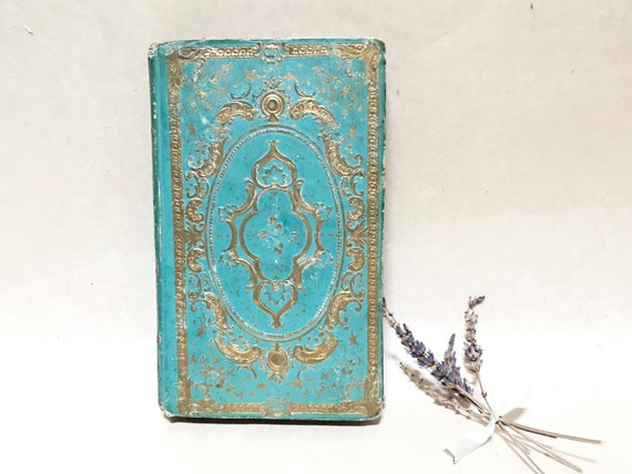 Wedding Guestbook, Ornate Teal Fairytale Book, Boho Chic, Personalized Custom Made Keepsake