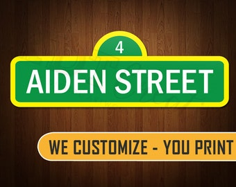 Customized Sesame Street Sign - KDCYP0001