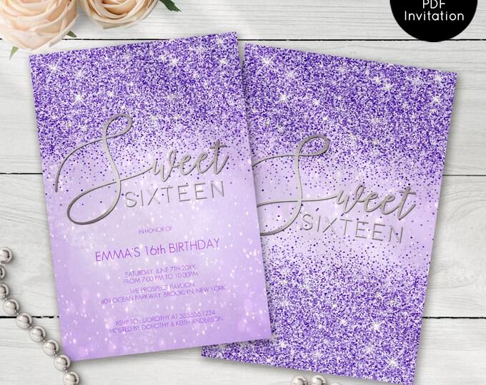 Sweet Sixteen Invites