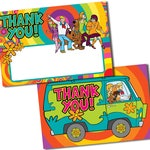 Scooby Doo Birthday Thank You Cards, Mystery Machine cards, Scooby Doo, Scooby Doo thank you notes,Mystery Machine Thank You Card