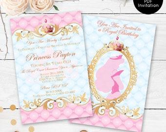 Princess Birthday Invitations Disney Sleeping Beauty Party 1st Invitation
