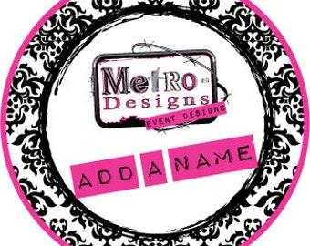 Add a Name or Customization