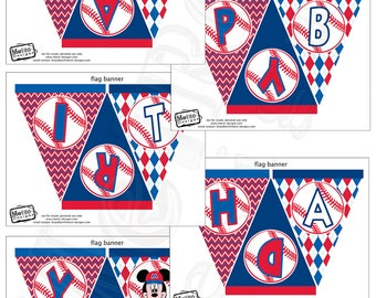 Mickey Mouse Baseball Banner