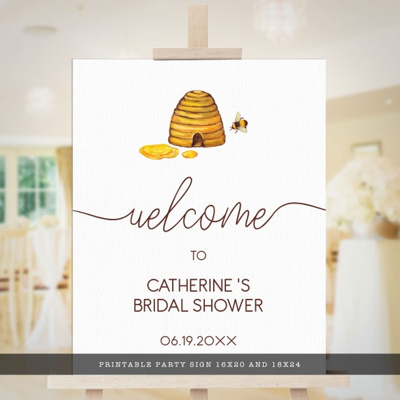 Hens Party Welcome Sign ISLA Bridal Shower Welcome Sign TEMPLETT instant download Kraft Printable Welcome Sign