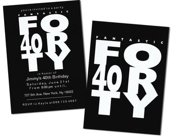 Fantastic 40th Birthday Invitations