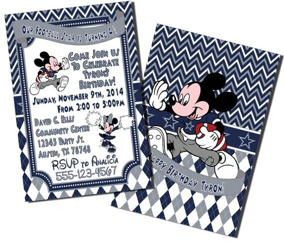 mickey mouse football birthday invitations mickey mouse invitations