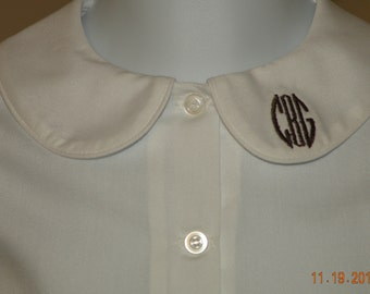 Long or short sleeve monogrammed shirt