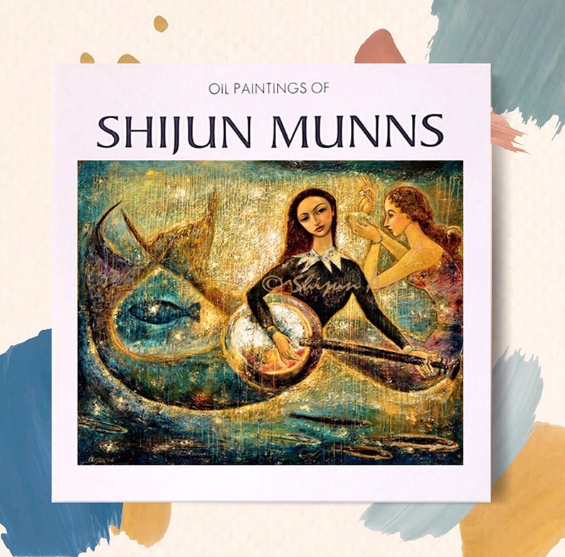 Fine Art Book Oil painting by Shijun Munns:art and image 0